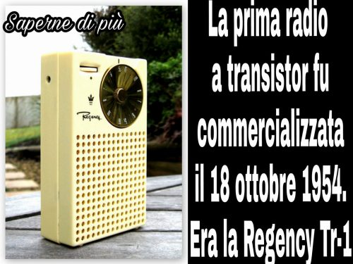 La rivoluzione degli anni 50: la radio a transistor