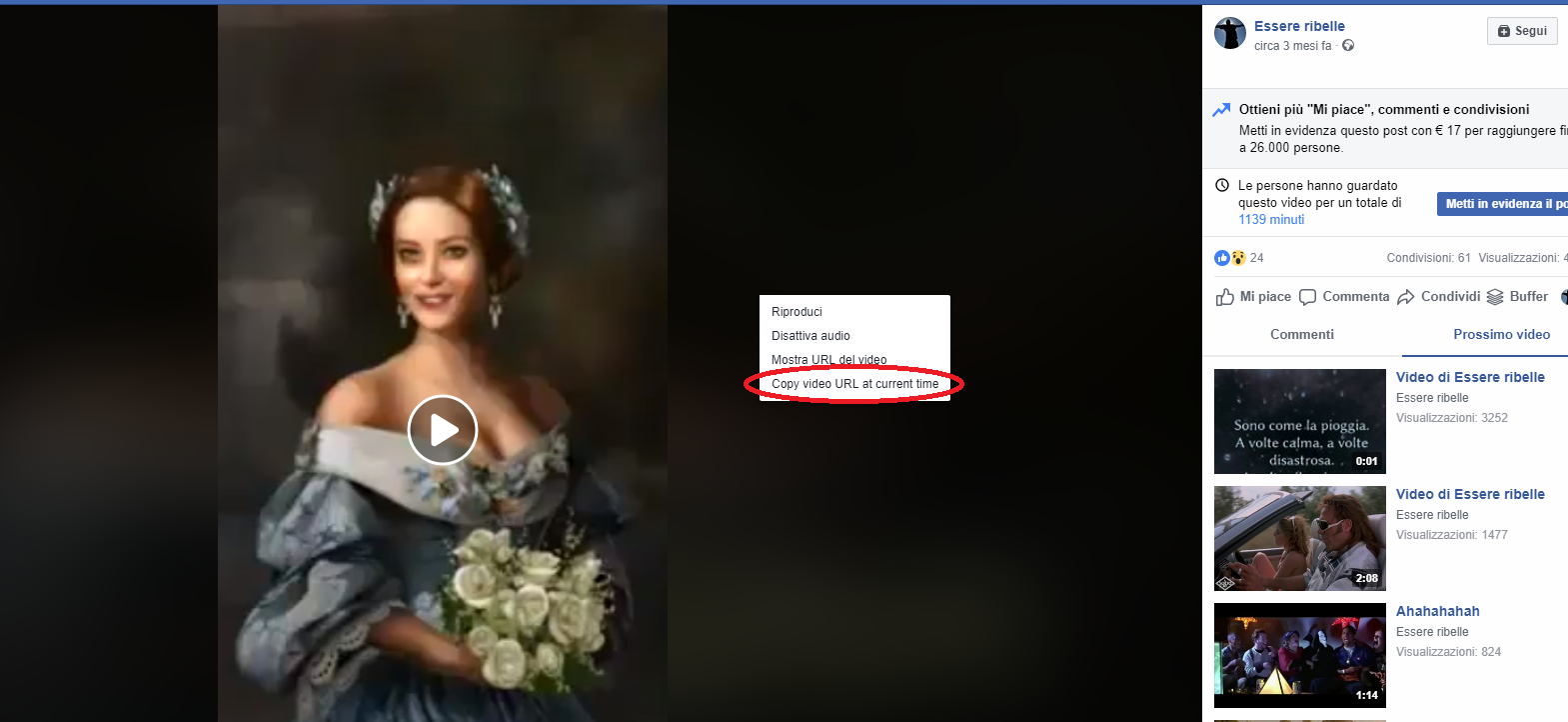 url video facebook
