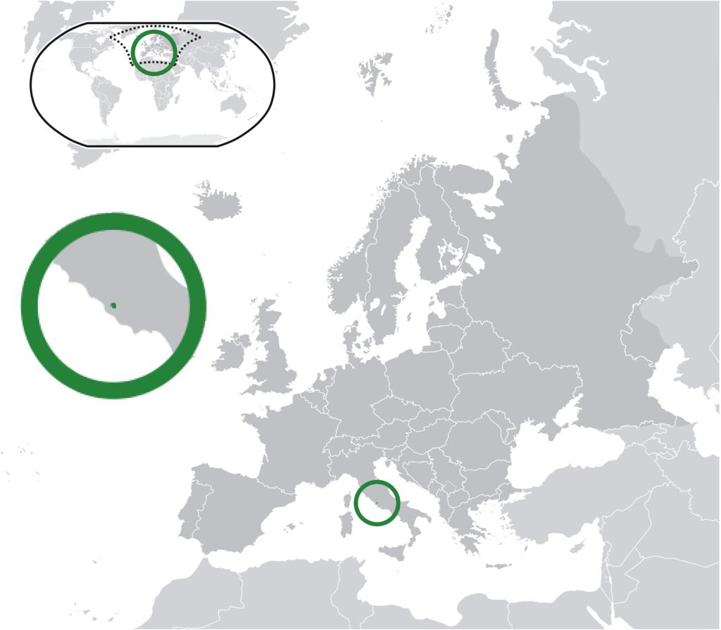 Stato pontificio, lo stato più piccolo del mondo