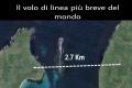 Il volo di linea più breve del mondo